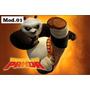 Super Painel Aniversário Kung Fu Panda 150x230 Cm