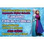 Painel Festa Infantil Lona Frozen Arte Grátis 1m X 1,4m