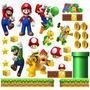 Adesivo Super Mario Bros Infantil Papel Parede - C/ 28 Peças