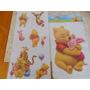 Adesivo Parede Infantil Decoração Ursinho Pooh Festas 2 Unid