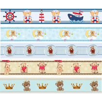 Faixa Border Decorativa Infantil Urso Bebê Marinheiro
