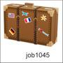 Adesivo Decorativo Mala Viagem Países Job1045