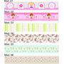 Faixa Border Decorativa Para Quarto Menina Kit Com 12 Faixas
