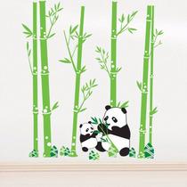 Pandas E Bambu Adesivo Decorativo Infantil Removivel