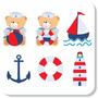 Adesivo Decorativo Marinheiro Urso Ursinho Barco Lindo