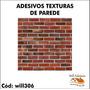Adesivo Para Balcão Textura Tijolos 1m X 1m Will306