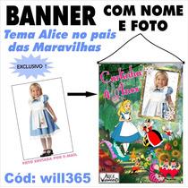 Banner Impresso Em Lona Alice No Pais Das Maravilhas Will365