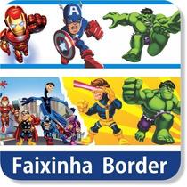 Adesivo Parede Faixa Border Homem Ferro Nome Personalizado