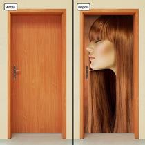 Adesivo Decorativo De Porta - Salão - Beleza - 223mlpt