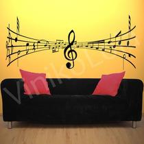 Adesivo Decorativo De Parede Musical , Notas Musicais