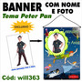 Banner Painel Para Aniversário Disney Peter Pan Will363