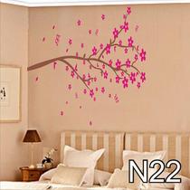 Adesivo N22 Árvore Tronco Galhos Com Flores Flor De Parede
