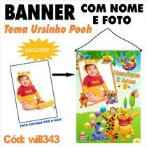 Confecção De Banner Impresso Em Lona - Ursinho Pooh Will343