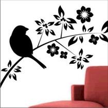 Adesivos De Parede Decorativo Àrvores, Galhos E Pássaros.
