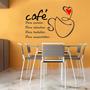 Adesivo Decorativo Parede Cozinha Geladeira Café Frases
