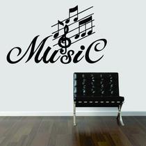 Adesivo De Parede Música Music Notas Musicais Clave De Sol