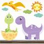 Adesivo Infantil Dinossauro Zoo Decorativo Parede Bebe