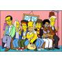 Poster Homer Simpson Na Sala Com Astros Do Rock 80cmx120cm
