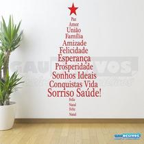 Adesivo Decorativos De Parede Arvore Com Frase De Natal Box