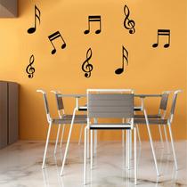 Adesivo Decorativo Parede Sala Box Música Notas Musicais