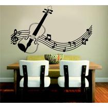 Adesivo Decorativo Parede Música Violino Notas Musicais