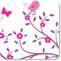 Adesivo Decorativo Parede Árvore Galho Pássaros Árvore Flor