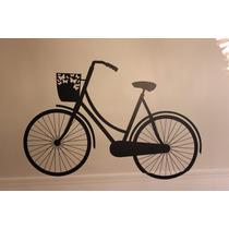 Adesivo De Parede Bicicleta Decoração Frete Grátis