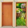 Adesivo Decorativo De Porta - Bicicleta - 418mlpt