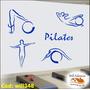 Adesivo De Parede Impresso Exercício Pilates - Will348