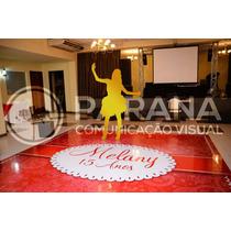 Adesivo Para Pista De Dança 2,5x2,5 Mt   Casamento 15 Anos