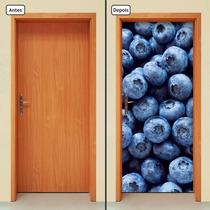 Adesivo Decorativo De Porta - Blueberry - Frutas - 312mlpt