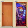 Adesivo Decorativo De Porta - Cassino - Las Vegas - 127mlpt