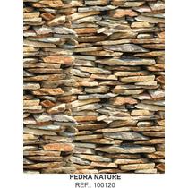 Papel Adesivo Decorado Pedra Nature 45 Cm X 10 Ms Lavável