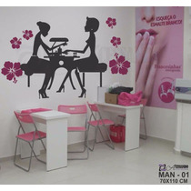 Adesivo Decorativo Manicure Salão De Beleza - Cabeleireiro