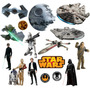Adesivo Parede Kit Infantil Decorativo Star Wars Kit Md.06