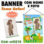Banner Festa Personalizado Nome E Foto Tema Safari Will216