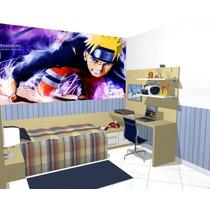 Adesivos Decoração Quarto Naruto Manga Desenho Painel 1mt2