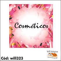 Adesivo Impresso Salão De Beleza - Cosméticos - Will323