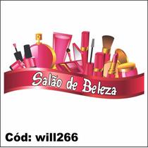 Adesivo Salão De Beleza Cosméticos Esmalte, Creme Will266