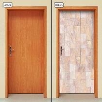 Adesivo Decorativo De Porta - Madeira - 567mlpt