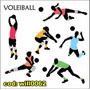 Adesivo Esporte Voleiball Para Parede Clube Quadra Will0062