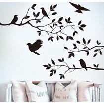 Adesivo Decorativo Parede Pássaro Árvore Galho Ramo Brinde