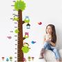 Adesivo Métrico Parede Bichos Arvore Do Crescimento Crianças