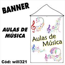 Banner Impresso Em Lona Aulas De Música Claves Will321