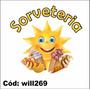 Adesivo Decorativo Comércio Sorveteria Sol Sorvetes Will269