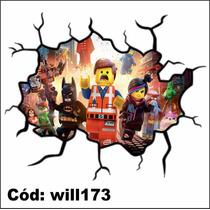 Adesivo De Parede Infantil Imitando 3d Lego World Will173