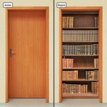 Adesivo Decorativo De Porta - Estante De Livros - 001mlpt