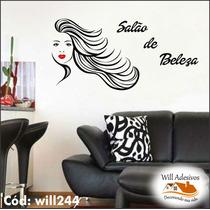 Adesivo Decorativo Salão De Beleza 1m X 90cm Will244
