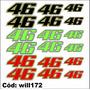Adesivo Kit Para Moto Número 46 Valentino Rossi Will172