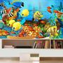 Adesivo Peixe Aquário Decoração Painel Fundo Do Mar Mod05
